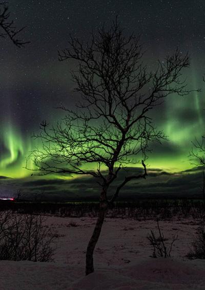 полярное сияние в швеции