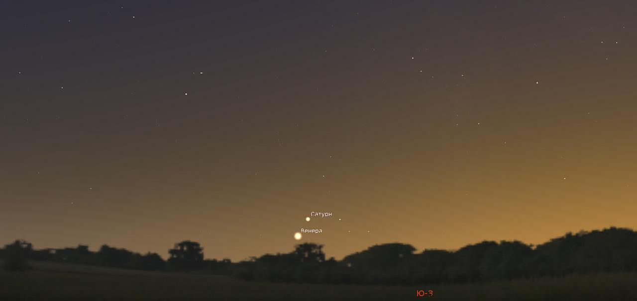 Венера и Сатурн в декабре 2019 года