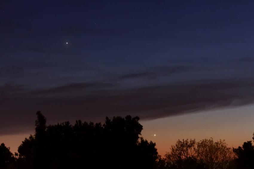 Юпитер и Венера в ноябре 2019
