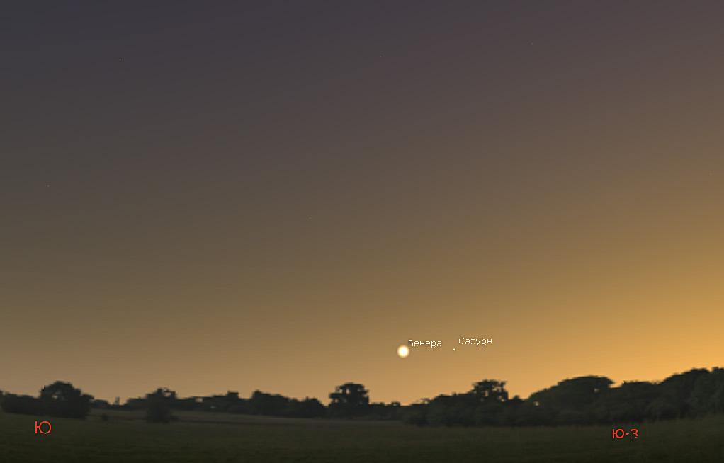 Венера и Сатурн в соединении