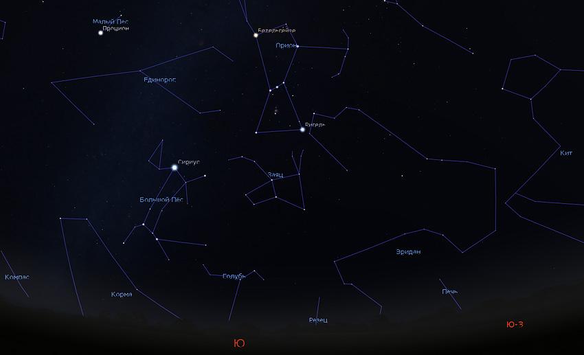 звездное небо зимы на кавказе