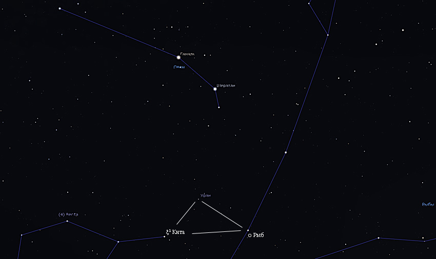 как найти Уран в январе 2020 года