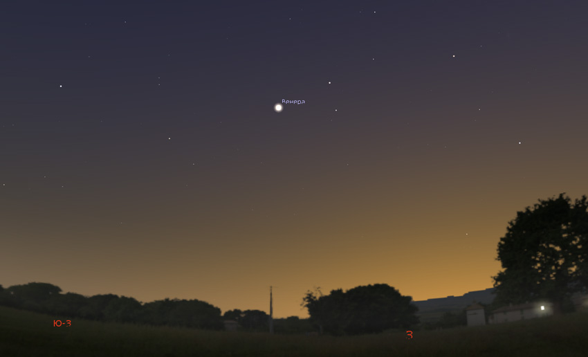 планета Венера в марте 2020 года