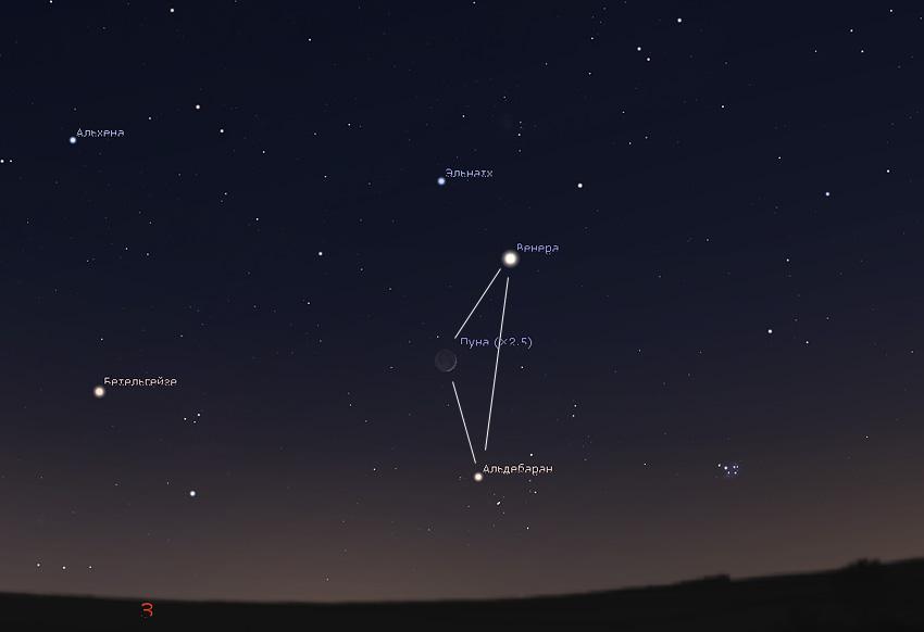 Луна и Венера 26 апреля 2020 года