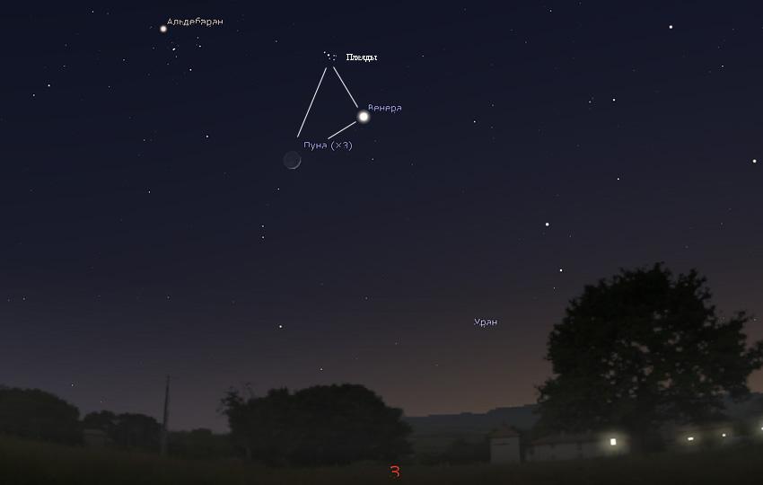 Луна и Венера в марте 2020