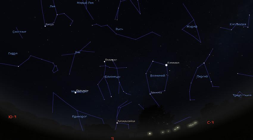 звездное небо в марте