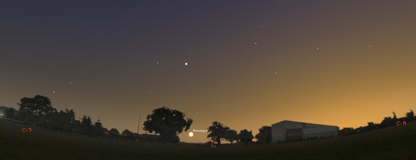 Венера на севере видна всю ночь