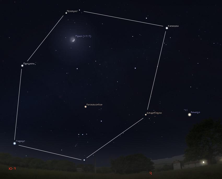 Луна на небе 1 апреля 2020 года