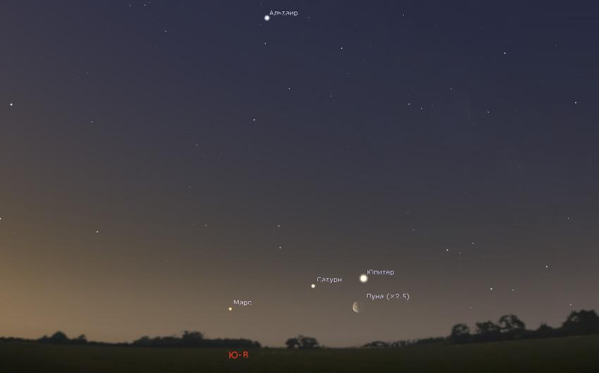 Сатурн в апреле 2020