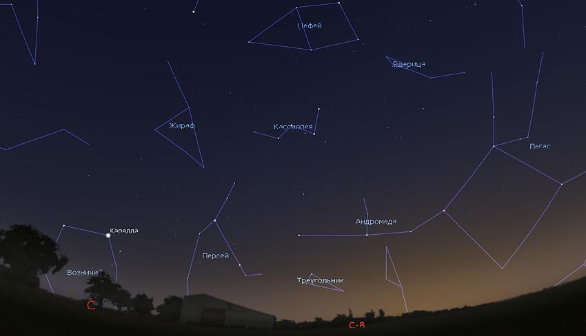 звездное небо в апреле 2020 года