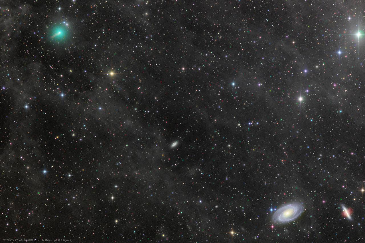 комета C 2019 Y 4 atlas