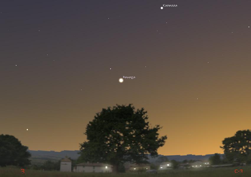 планета Венера на небе