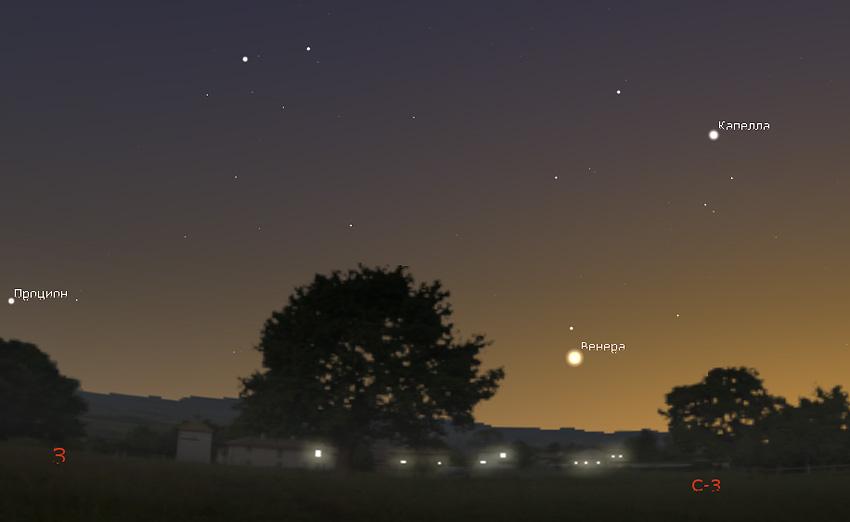 планета Венера на небе в мае 2020 года