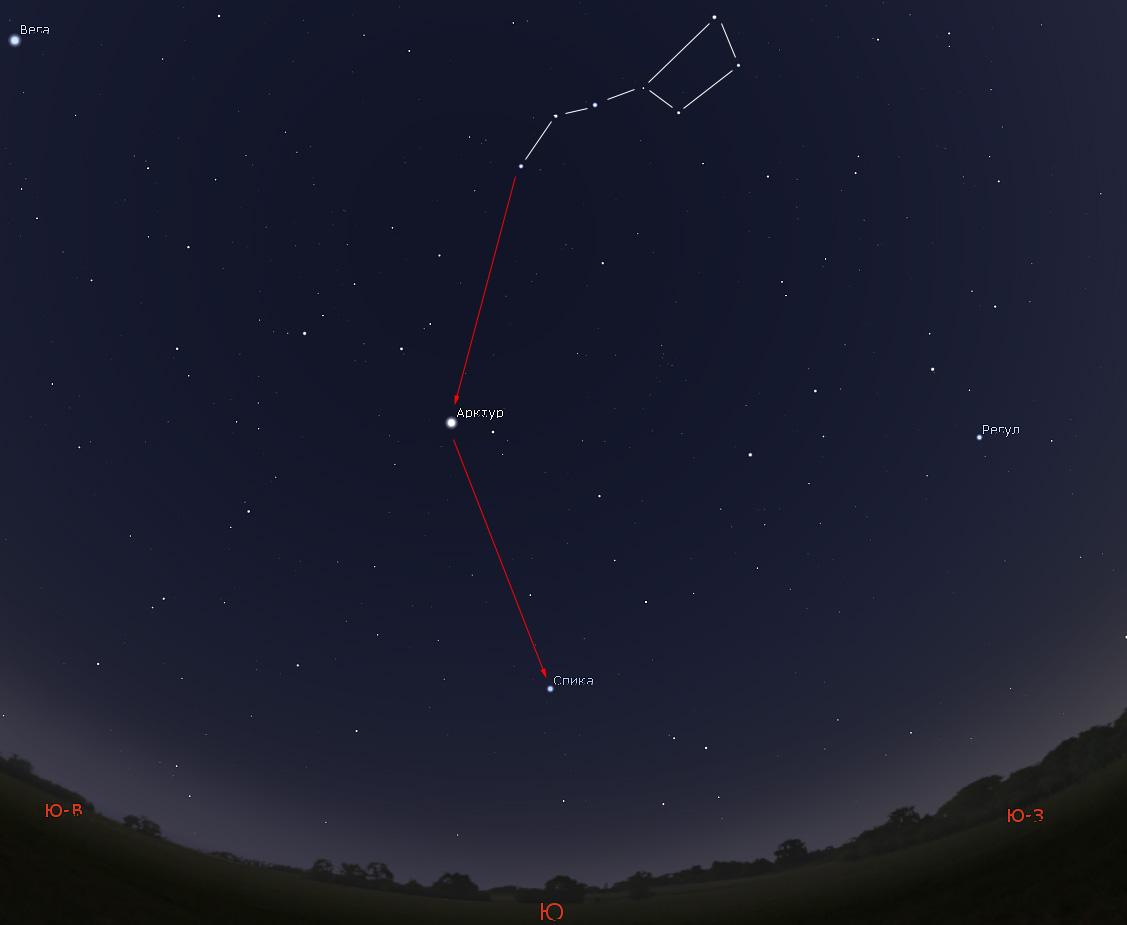 как найти на небе звезду Арктур