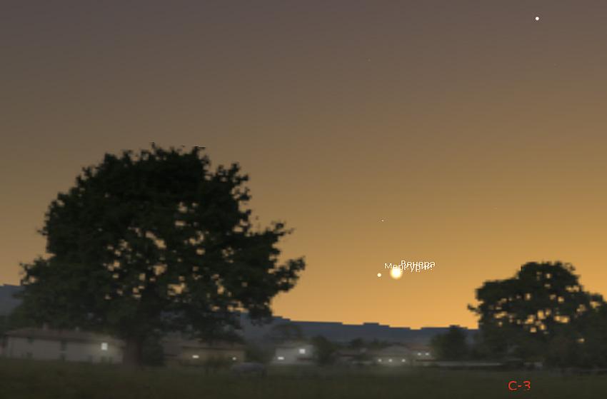Меркурий и Венера в мае 2020 года