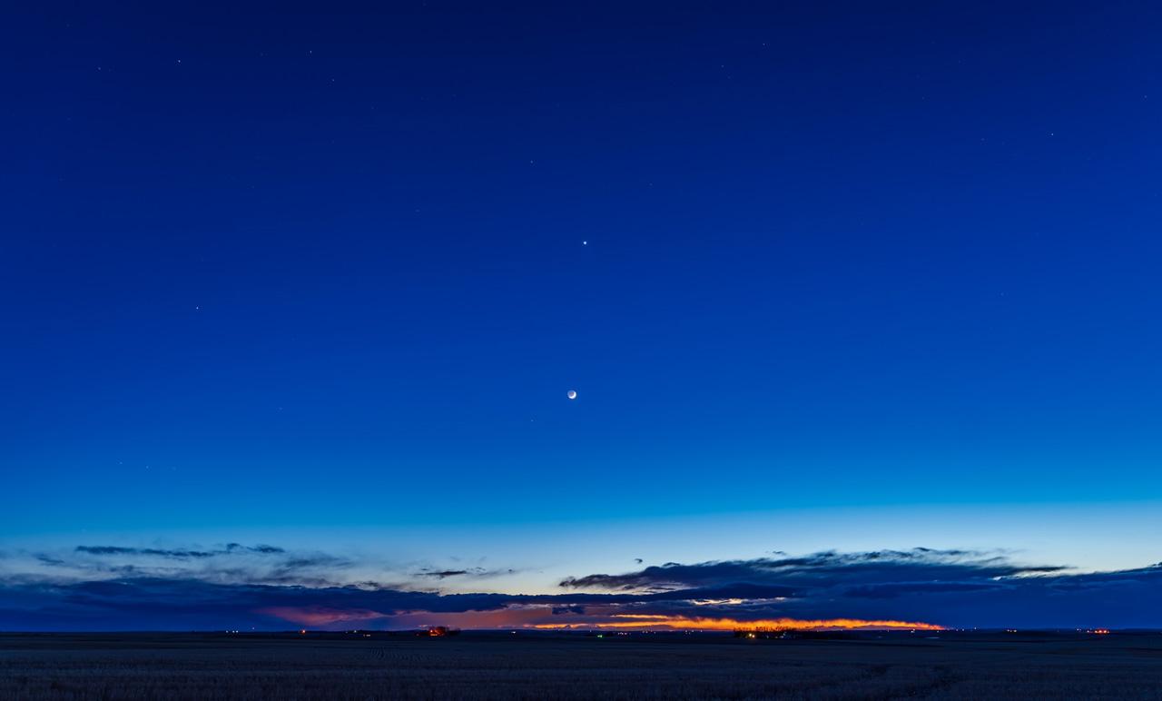 Венера вечером 25 апреля 2020 года