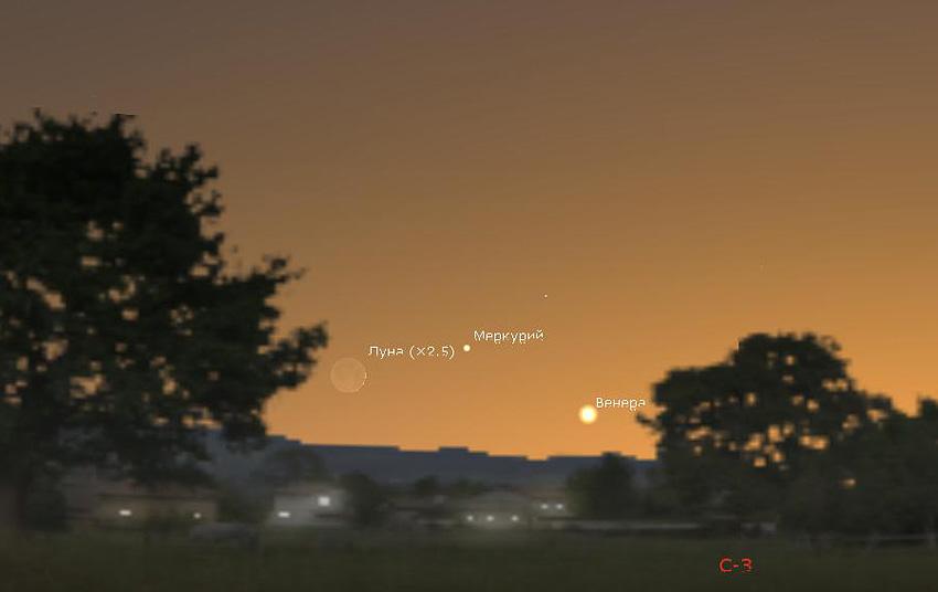 как найти Меркурий в мае 2020