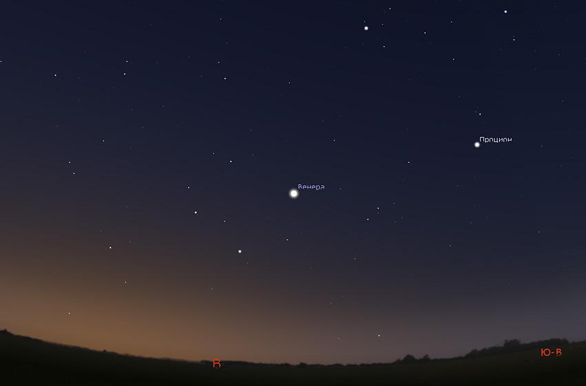 Венера на небе в сентябре 2020 года
