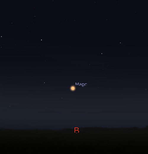 планета Марс в октябре 2020 года