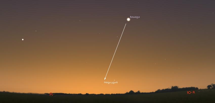 Меркурий на небе в октябре 2020 года