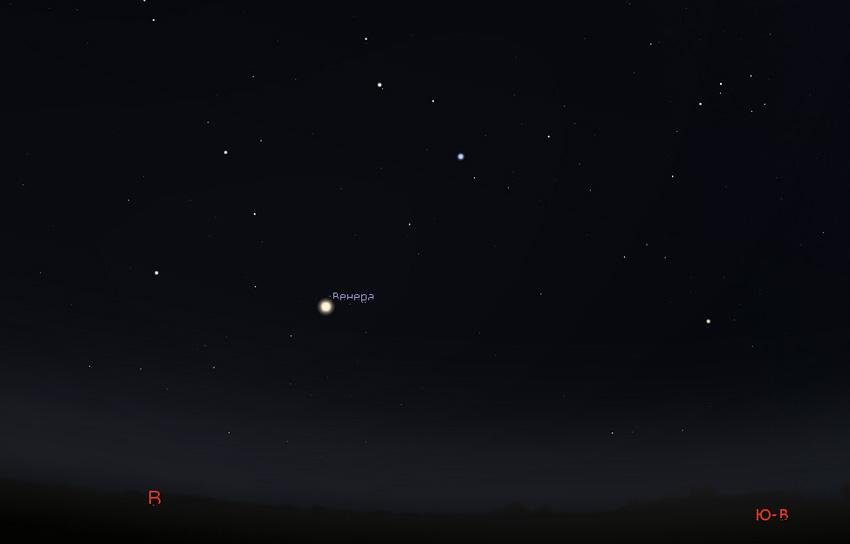 Венера на небе в октябре 2020 года