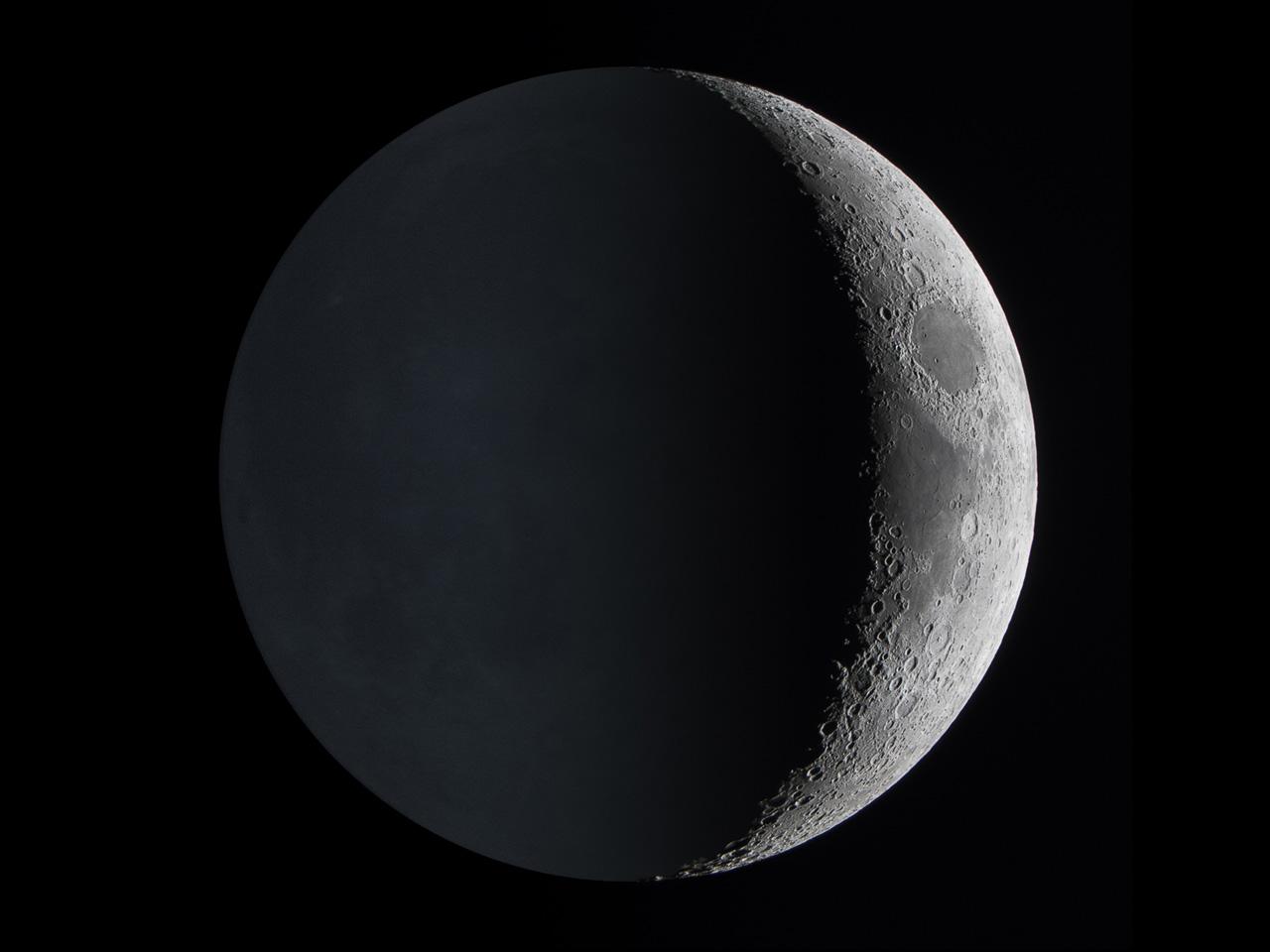 вид луны в телескоп