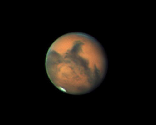 Марс в октябре 2020 года