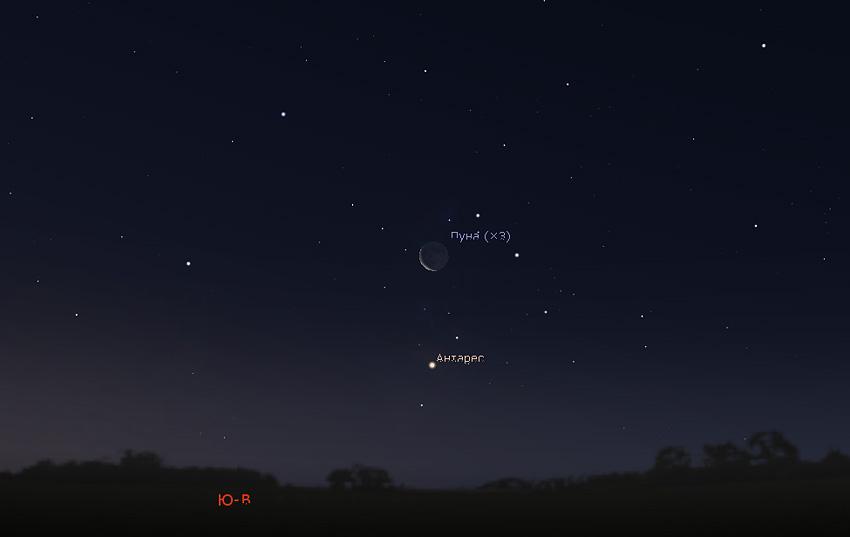 Луна и Антарес 10.01.2021