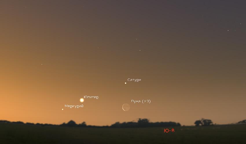 Юпитер в марте 2021 года