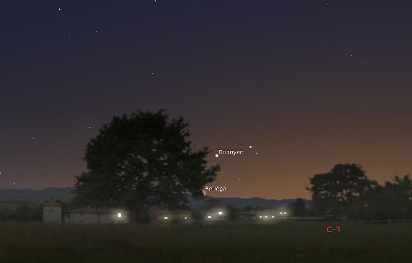 Венера на небе в июне 2021 года